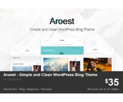 Aroest - Simple and Clean WordPress Blog Theme by zozothemes